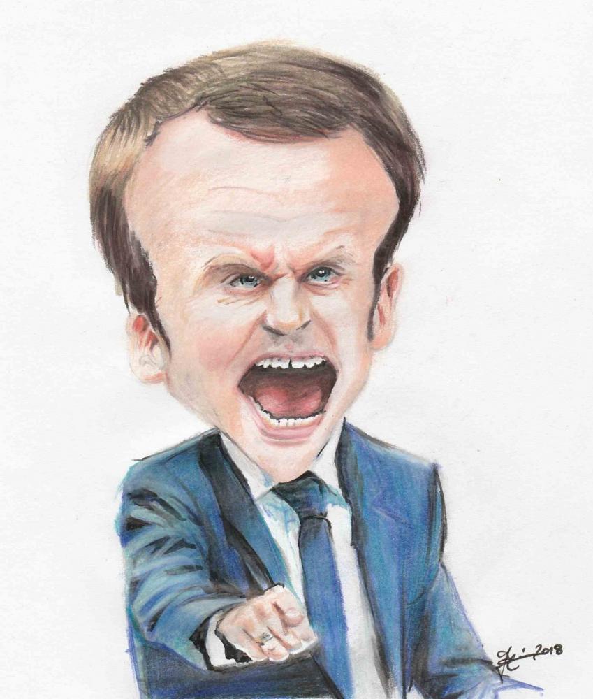 Emmanuel Macron by metaldrawings